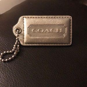 Coach Silver hang tag